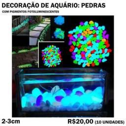 Decoração de Aquário: Pedras Fotoluminescentes 10 Unidades