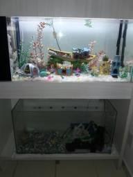 Vendo ou troco por algo do meu interesse, 2 aquários completo, com móvel planejado