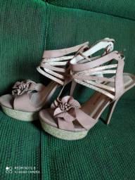 Sandália meia pata rose