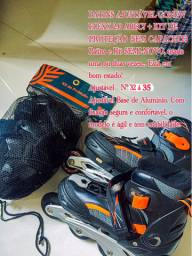 Vende-se patins Gonew Inline + kit de proteção SEMINOVO