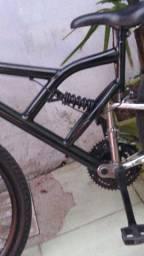 Bike de mola e amortecedor v-break novo tudo novo guidão pintado apenas 300