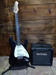 Guitarra Dolphin e Amplificador