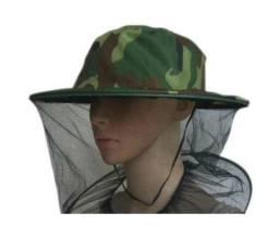 Chapéu Protetor Com Tela Contra Insetos Mosquitos Abelhas