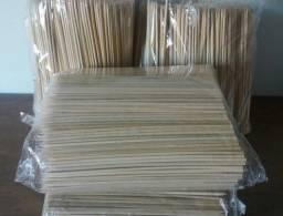 1000 Espeto Bambu P/ Espetinho Churrasco