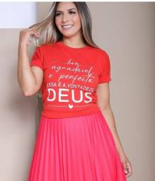 Blusa evangelica modelo baby look Tamanho G