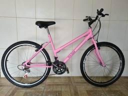 Bicicleta aro 26 nova aero rosa