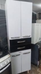 Jogo de Armário de Cozinha 3 peças / 1 Paneleiro e 2 aéreos um maior um menor