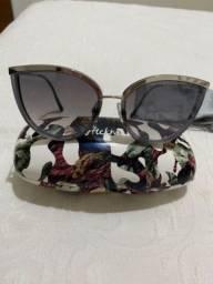 óculos de sol de gatinho cinza ana hickman espelhado