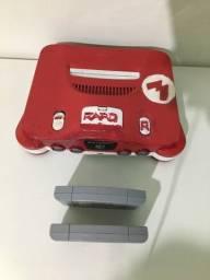 Nintendo 64 + 03 cartuchos