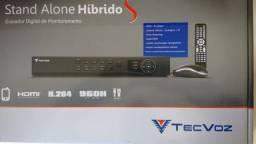 DVR TecVoz 16 canais | T1-SHY16w | Híbrido | HD 500Gb