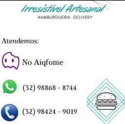 Hambúrgueria Irresistível Artesanal delivery Barbacena-Mg