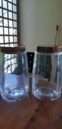 potes de vidro