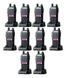 Lote 10 Rádio Ht Comunicador Baofeng Dual Band Uv-82 Rádio Fm<br>