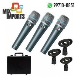 Kit Microfone Profissional Mxt Beta 57 com Maleta (Novo, aceito cartão)