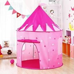 Título do anúncio: Barraca Infantil Dobrável Tenda Castelo Das Princesas Cabana tem azul rosa