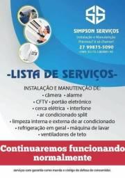 Título do anúncio: Instalação e manutenção câmera cftv videomonitoramento alarme residencial