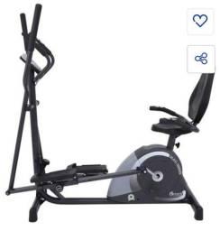 Elíptico e bicicleta ergométrica usada