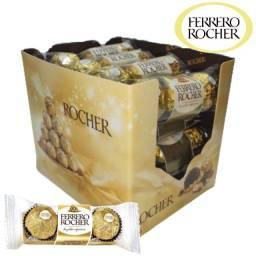 Caixa de bombom Chocolate Ferrero Rocher com 48 und