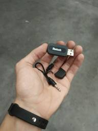 Adaptador Receptor Bluetooth Usb P2 Áudio Músicas Som Carro