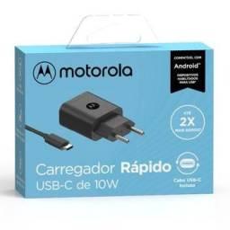 Carregador de Parede Motorola / 10W / USB-C / Type-C - SJSC47-C - Novo