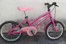 Bicicleta aro 16 feminina(capacete a parte)