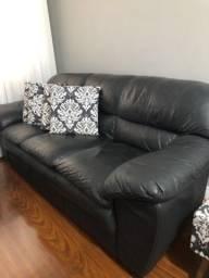Título do anúncio: Sofa de couro 3 lugares