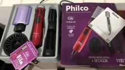 Escova Rotativa Philco Ceramic Spin Ion Brush PEC05V 1100W