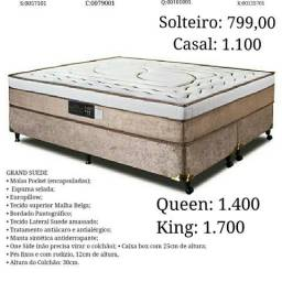 Cama de molas encapsuladas 799,00 frete grátis zap 996133714