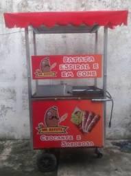 Conquiste sua independência financeira! carrinho de fritas (normal, no cone e espiral).!!!