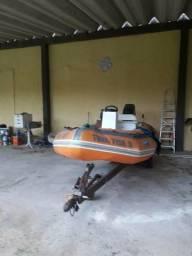 Bote Flexboat 16 Pés lancha inflável Barco Apoio pesca mergulho .motor 50 Hp Mercury - 1998