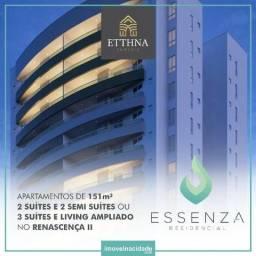 Apartamento no Renasceça, 4 quartos, 3 suítes, 3 vagas, 151m², Novo. Essenza Residencial