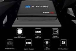 Tv Box Alfawise + 1 mês de canais IPTV