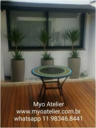 Mesa Mosaico, conjuntos, mesa aluminio, mesa ferro, mosaico