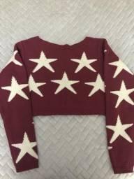 Cropped de tricô