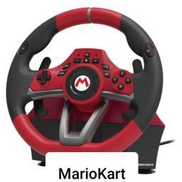Volante Wheel Mario Kart Mario Pro - preto e vermelho<br><br>