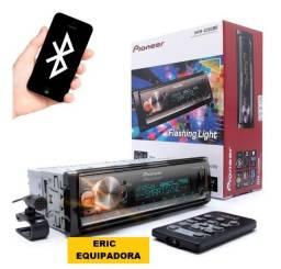 Rádio Pioneer Mvh-x3000br Saída Sub Mixtrax Usb Top - Instalado