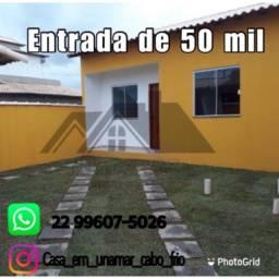 Casa de 02 quartos em Unamar