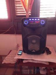 Caixa de som Sumay am 800bt Thunder Black 400W cm microfone  sem fio Bluthu