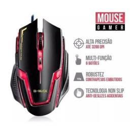 R$49,90 Mouse Gamer B-max A9 Usb Led Óptico 3200 Dpi 6 Botões