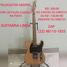VENDO LINDA GUITARRA TELECASTER GBSPRO!!!