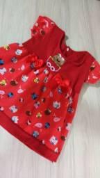 Vestido vermelho bebê Tam P