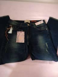 Calça Handara n 42 jeans com Lycra nova