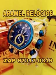 Invicta Bolt Zeus Magnum Dourado e Azul