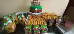 Bolos, doces, salgados, buffet, kit festa....