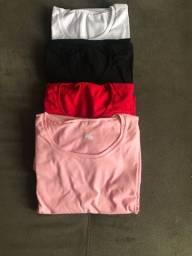 Camisetas básicas 100% algodão
