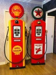 Título do anúncio: Shell Texaco Posto Bomba Decorativa Anos 50