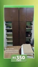 Armário madeira - 02 portas
