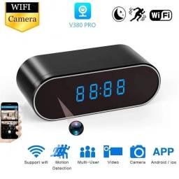 Wi-fi Relógio De Mesa Mini Câmera 1080P HD