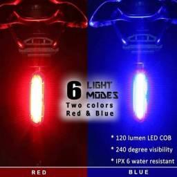 Título do anúncio: Lanterna Bike Pisca 2 cores ao mesmo tempo