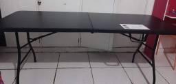 Mesa Dobrável tipo maleta, 1,8m...  é NOVA